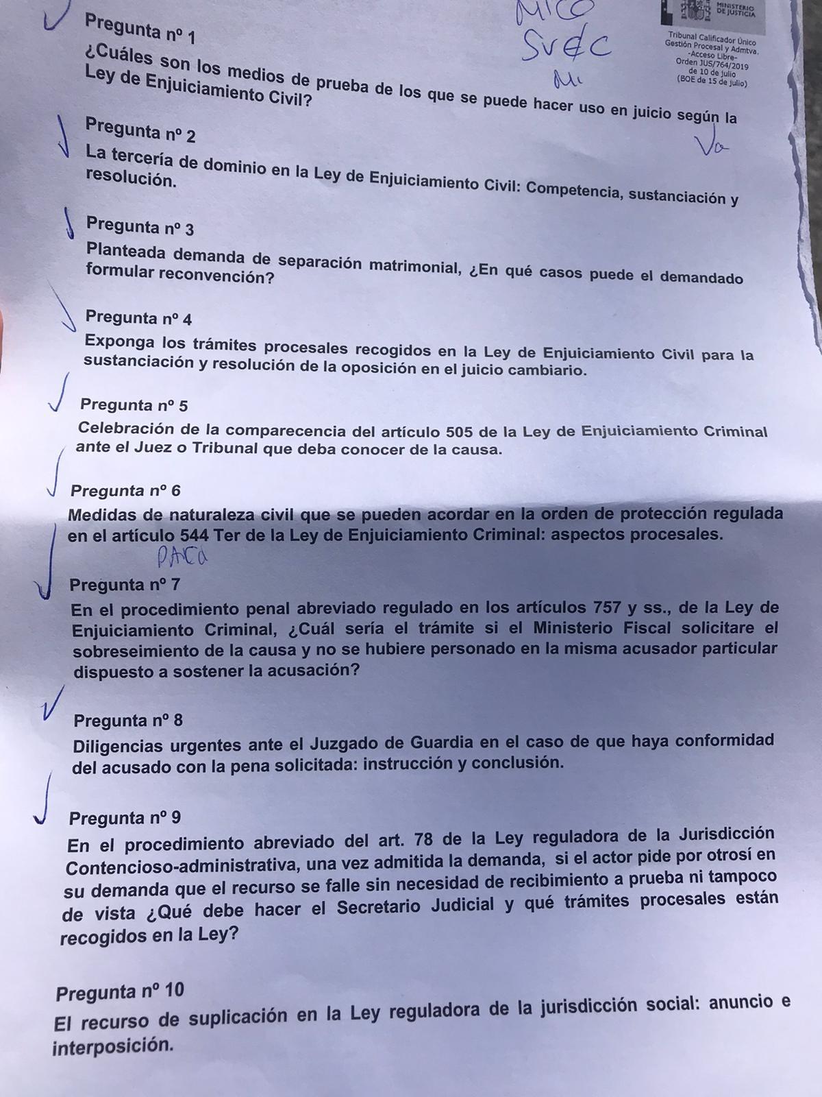 Nivel De Dificultad Examen Oficial Gestión