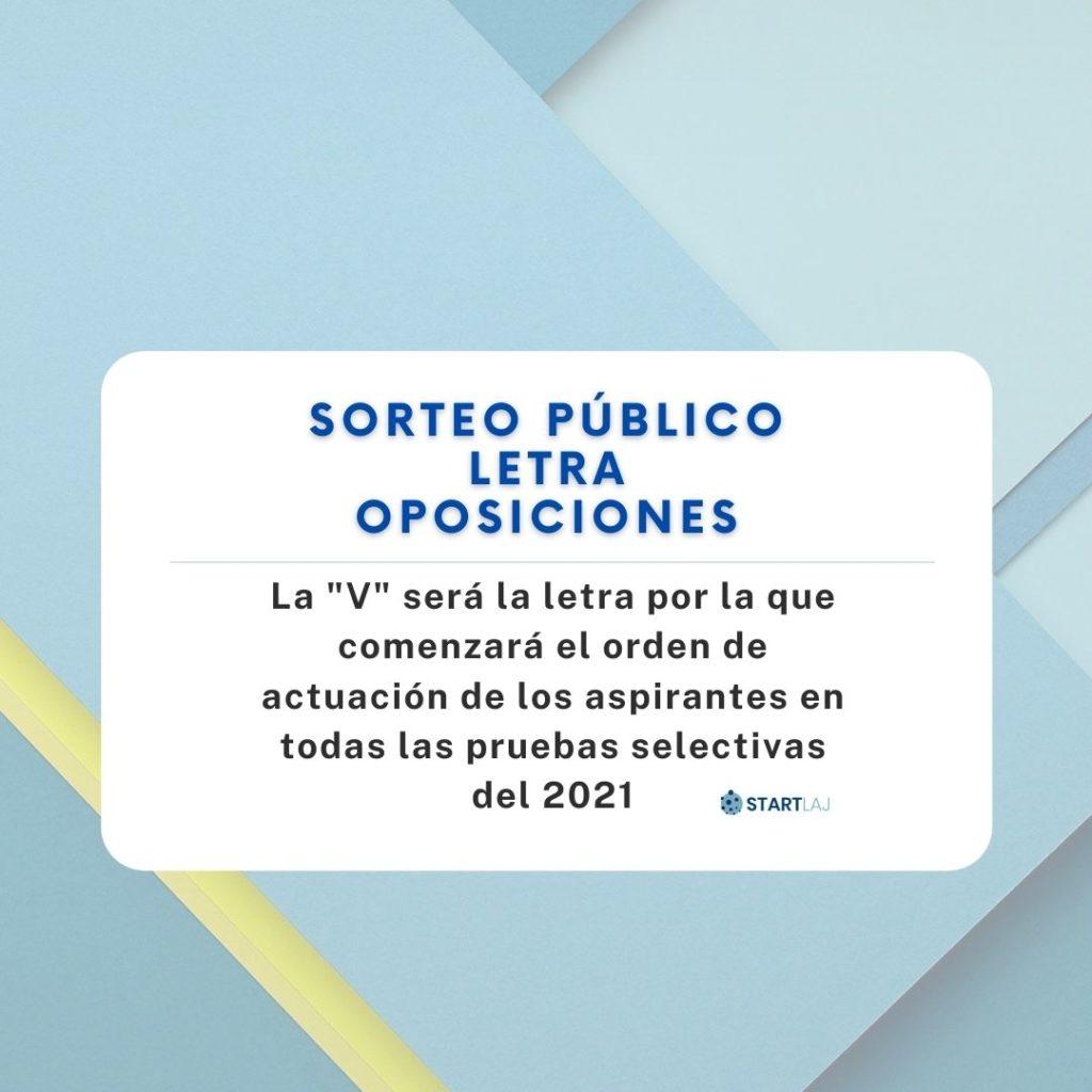 letra oposiciones 2021